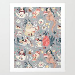 Tea Spirit pattern Art Print