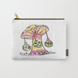 Mushroom Christmas Carry-All Pouch