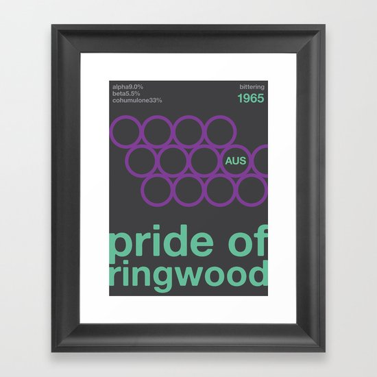 pride of ringwood//single hop Framed Art Print