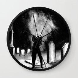 Lightning Rod Impales The Soul  Wall Clock