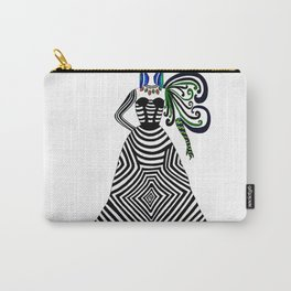 Abstract geometric quirky lady Carry-All Pouch