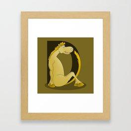 Pony Monogram Letter D Framed Art Print