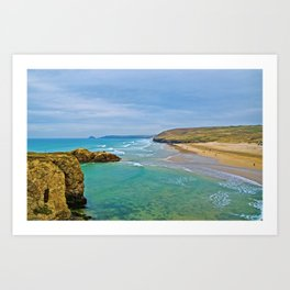 Perranporth Beach Art Print