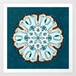 Trad Climbing Mandala Art Print