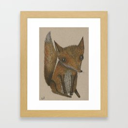 Little Red Fox Framed Art Print