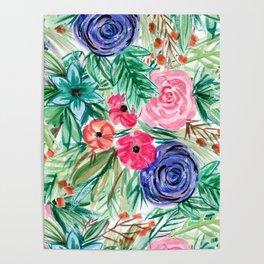 Watercolor Floral Bouquet No. 2 Poster