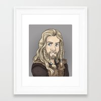 fili Framed Art Prints featuring Fili by quietsnooze