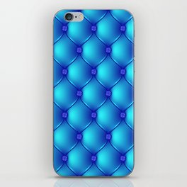 Blue Upholstery Pattern iPhone Skin