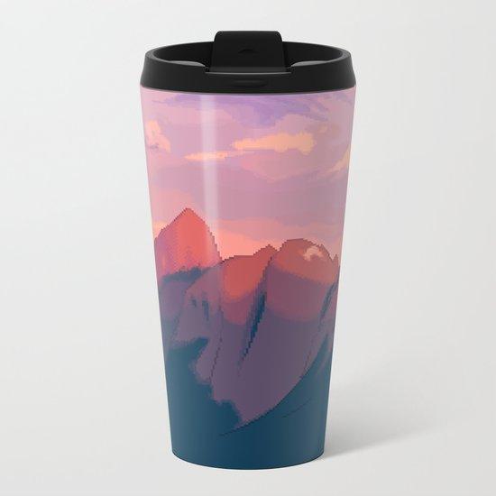 Sunset Hues Metal Travel Mug