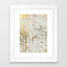 Gold marble Framed Art Print
