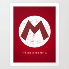 Mario Hero Art Print