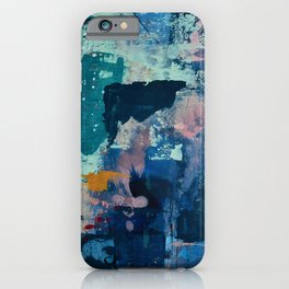 The Peace of Wild Things: a vibrant abstract piece in a variety of colors by Alyssa Hamilton Art iPhone Case