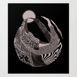 Dança pra Lua Art Print