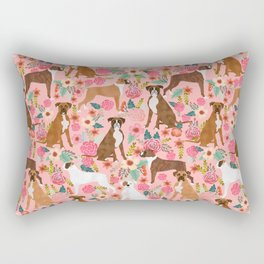 Boxer mixed coats dog breed florals pet gifts for boxers pupper must haves Rectangular Pillow