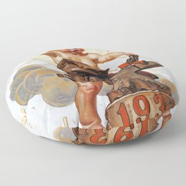 New Year Baby 1931 - Digital Remastered Edition Floor Pillow