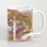 cherry blossoms Mugs featuring Cherry Blossoms by Judy Palkimas
