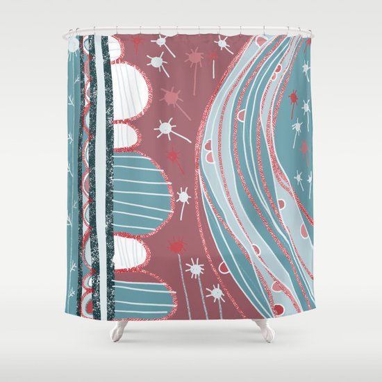 A country walk Shower Curtain