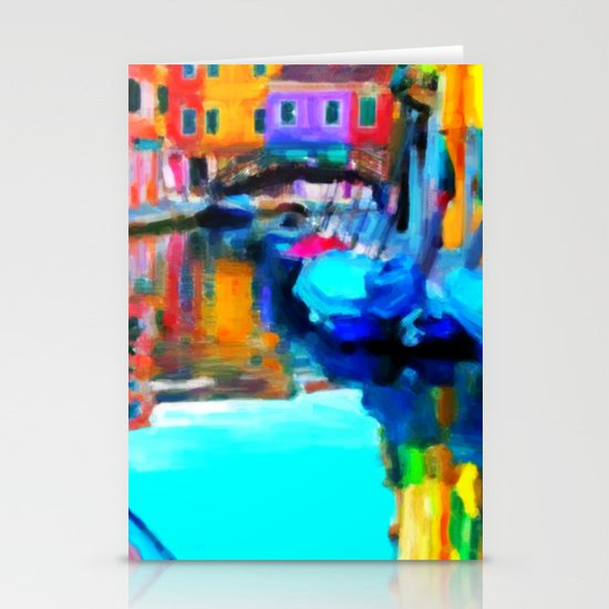 Colors In Venice - Painting Style Stationery Cards