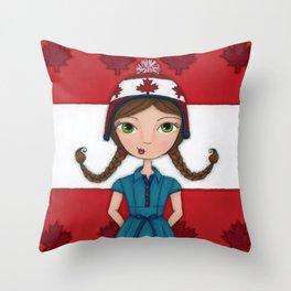 Kaylee the Canadian Throw Pillow