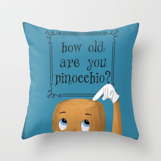 pinocchio Throw Pillow