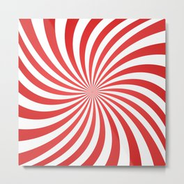 Spiral Red Swirl Metal Print