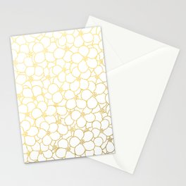 Forget Me Knot White Gold Stationery Cards