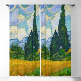 Wheat Field with Cypresses Vincent van Gogh Oil on canvas 1889 Blackout Curtain