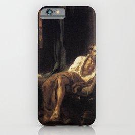 Eugne Delacroix - Tasso in the Madhouse iPhone Case