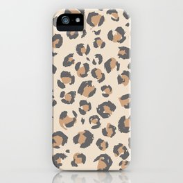 Animal Print Home Decor in Faded Tan by Erin Kendal iPhone Case