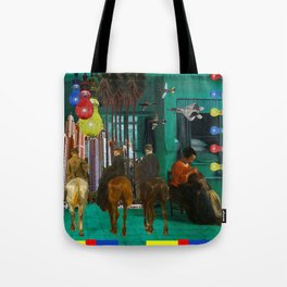 BLUE, YELLOW, RED, LICE I Tote Bag