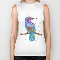 coco Biker Tanks featuring coco by Laurie Art Gallery