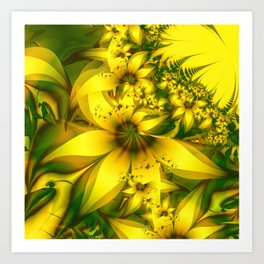 Happiness Is a Meadow of Yellow Daffodil Flowers Art Print