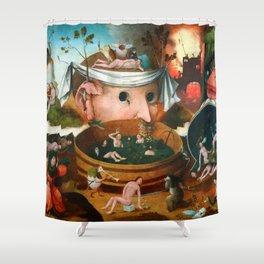 "Hieronymus Bosch (school) ""The Vision of Tnugdalus"" Shower Curtain"