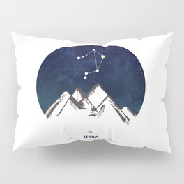 Astrology Libra Zodiac Horoscope Constellation Star Sign Watercolor Poster Wall Art Pillow Sham