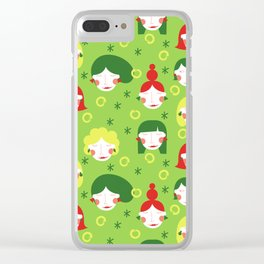 Funny Ladies Clear iPhone Case