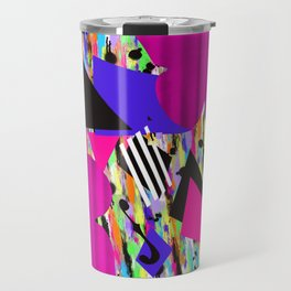Cello Abstraction on Hot Pink Travel Mug