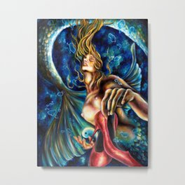 12 sign series - Pisces Metal Print