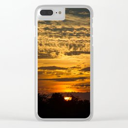 Cloudy Colored Sky Clear iPhone Case