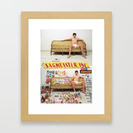 Sagmeister on a binge Framed Art Print