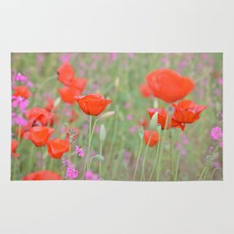 Poppies and Campions Rug