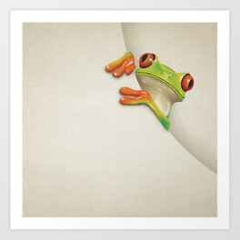 Little Red Eyed Tree Frog Art Print