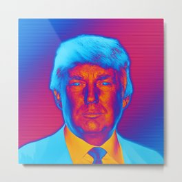 Pop Art President Trump Metal Print