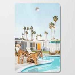 Tigers at the Pool Cutting Board