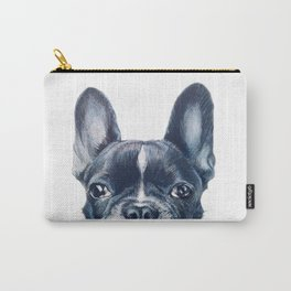 French Bull dog Dog illustration original painting print Carry-All Pouch