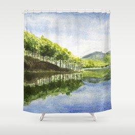 Tuyen Lam Lake in Da Lat Shower Curtain