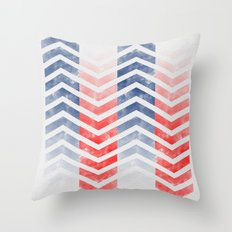 Chevron in Red White & Blue Throw Pillow