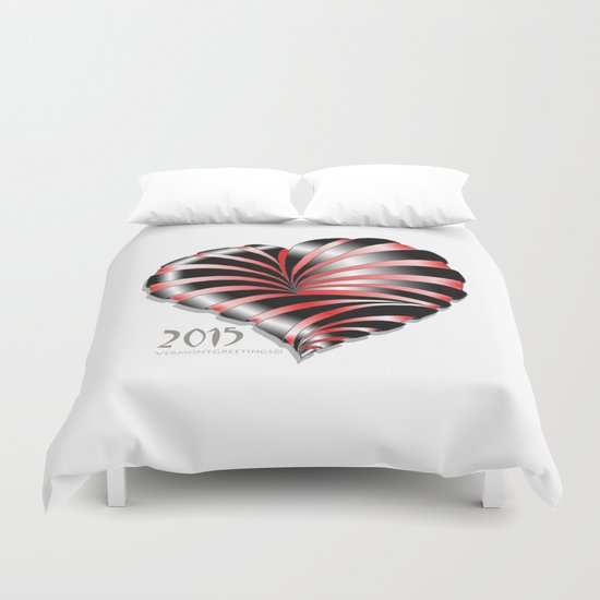 Forever love Valentine Illustration Duvet Cover