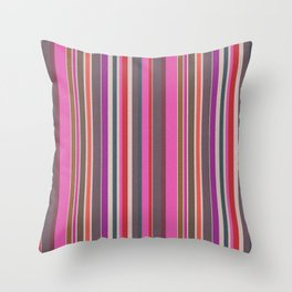 Pink Harmony Stripes Watercolor Throw Pillow