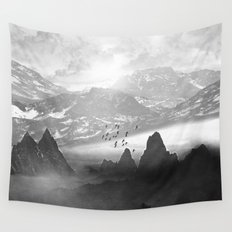 Black and White - Winter. Melody... Wall Tapestry