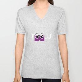 Motivational Focus Tshirt Design Colorful Focus Unisex V-Neck